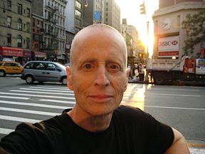 Leslie Feinberg. Self-portrait in setting sun.
