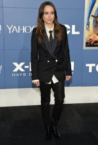 Ellen Page rockin' a suit at X-Men premiere source