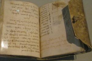 Da Vinci's notebook. source