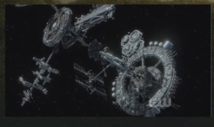 "The cobbled-together space station in The 100, ""The Ark."""